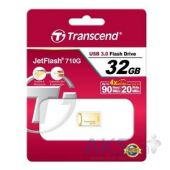 Вид 3 - Флешка Transcend 32GB JetFlash 710 Metal Gold USB 3.0 (TS32GJF710G)