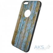 Вид 2 - Чехол Hoco Element Series Wood Grain Apple iPhone 6 Plus, iPhone 6S Plus Light Blue