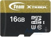 Карта памяти Team 16 GB microSDHC UHS-I U3 + SD Adapter TUSDH16GU303