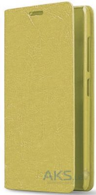 Чехол Book Cover Original case Samsung A310 Galaxy A3 2016 Gold