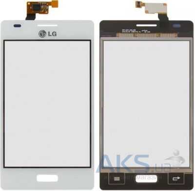Сенсор (тачскрин) для LG Optimus L5 E610, Optimus L5 E612 Original White