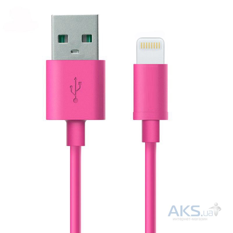 Кабель USB GOLF USB cable Lightning Rainbow series Pink