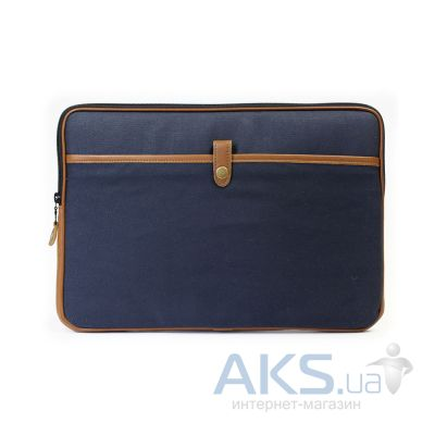 "Чехол PKG Red Crown Collection Sleeve Canvas/Leather for MacBook Air/Pro 13"" Navy (PKG RCCSS13-NAV1)"