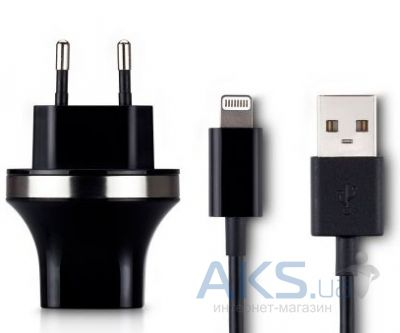 Зарядка для планшета Momax XC for iPad 4 (2,1 A) MFI Lightning cable (UTC02SAPMFILEUD) Black