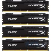 Оперативная память Kingston 32GB (4x8GB) 2666 MHz Fury Black (HX426C15FBK4/32)