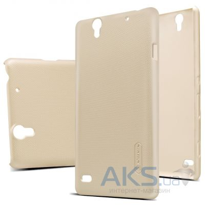 Чехол Nillkin Super Frosted Shield Sony Xperia C4 E5333 Gold