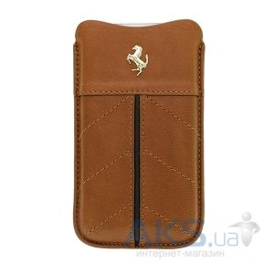 Чехол CG Mobile Ferrari Leather Sleeve Case California Collection Camel/Black for iPhone 4/4S (FECFSLIPKA)