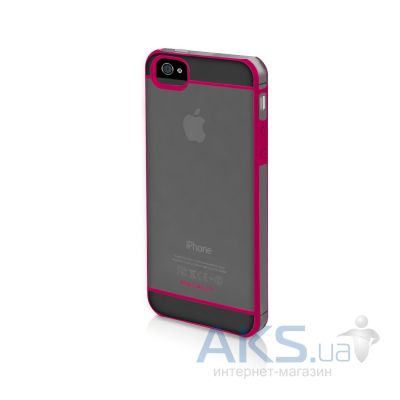 Чехол Macally See-Thru Hard-Shell Case Apple iPhone 5, iPhone 5S, iPhone SE Pink (CURVEP-P5)