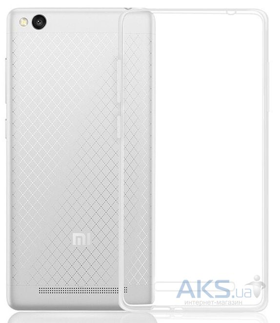 Чехол MSVII TPU Series Xiaomi Redmi 3 +Tempered Glass Transparent