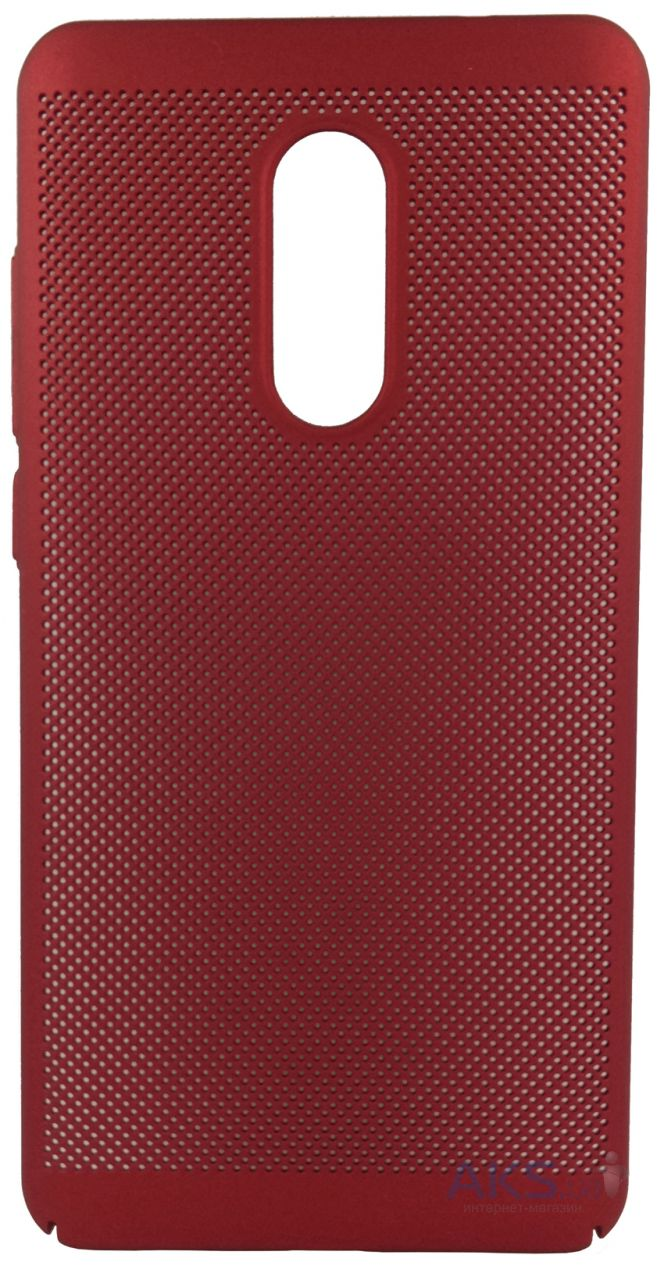 Чехол 1TOUCH Plastic Perforation Case Xiaomi Redmi Note 4x Red