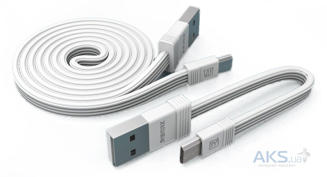 Кабель USB Remax Tengy Series 160mm +1000mm micro USB Data Cable White (RC-062m)