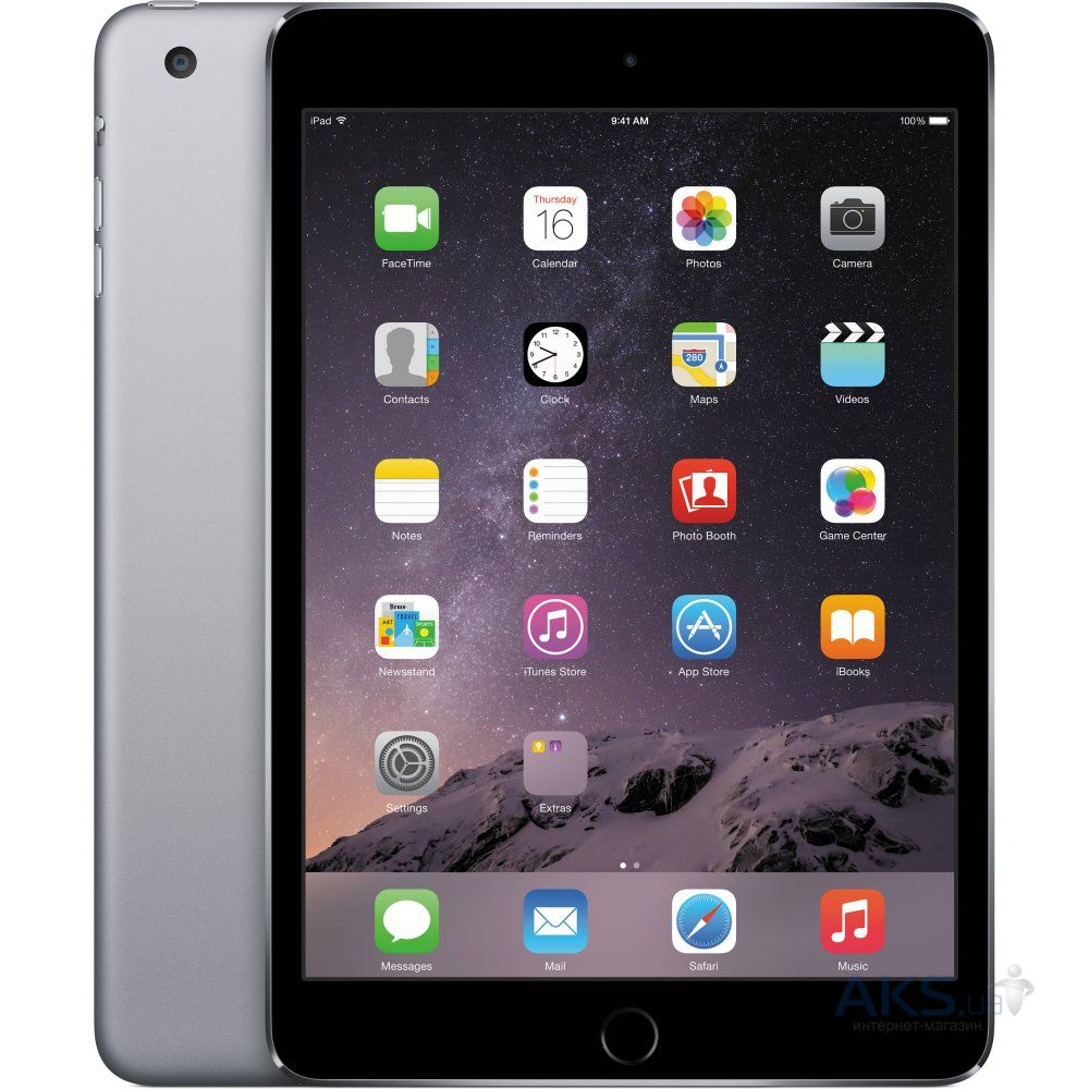 Планшет Apple A1538 iPad mini 4 Wi-Fi 16Gb (MK6J2RK/A) Space Gray