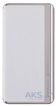 Внешний аккумулятор Momax iPower Elite+ External Battery Pack 8000mAh QC2.0 Emboss White (IP52BW)