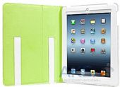 Вид 4 - Чехол для планшета Capdase Folder Case Folio Dot White/Green for iPad 4/iPad 3/iPad 2 (FCAPIPAD3-P026)