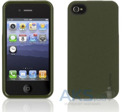 Чехол Griffin Outfit Flock Olive for iPhone 4/4S (GB03178)