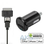 Зарядка для планшета Scosche reVOLT pro C1 micro USB + 30-pin Apple Cable Black (IUSBC101M / 117174)