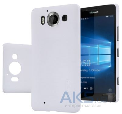Чехол Nillkin Super Frosted Shield Microsoft lumia 950 White