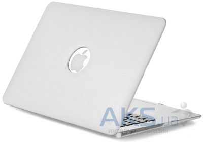 Чехол Kuzy Leather Case for MacBook Air 13 White