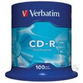 Диск Verbatim CD-R 700Mb 52x Cake box 100 Extra (43411)