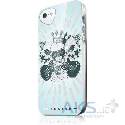 Чехол ITSkins Phantom cover case for iPhone 5/5S Blue Skull (APH5-PHANT-WHBL)