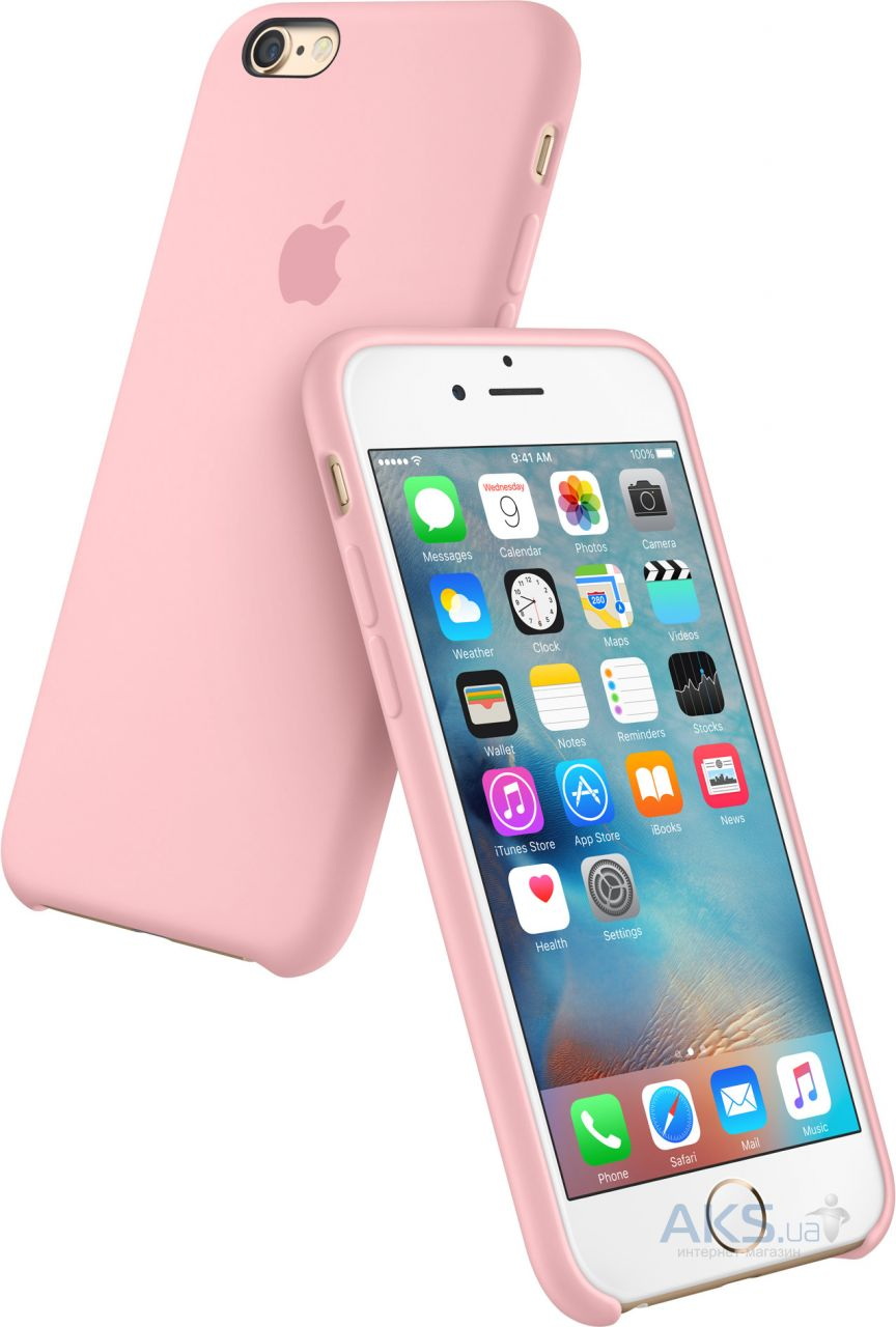 Apple Silicone Case Apple iPhone 6, iPhone 6S Pink (HC)