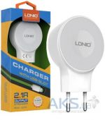 Зарядное устройство LDNio Home Charger 2.1A + micro USB White (A2269)