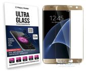 Защитное стекло Hаppy Mobile 3D Curved Ultra Glass Samsung G935 Galaxy S7 Edge Gold