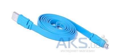 Кабель USB REMAX microUSB Ruler Cable Blue