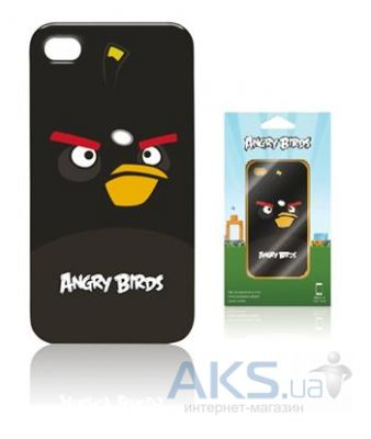 Чехол Gear4 Angry Birds Protective Case Bomber Black for iPhone 4/4S (ICAB404G)
