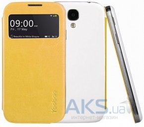 Чехол Yoobao Slim II Leather case for Samsung i9500 Galaxy S IV Yellow (LCSAMS4-SYL-II)