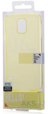 Чехол Momax TPU soft case for Samsung G900 Galaxy S5 Yellow (CCSAS5Y)