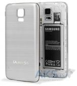 Задняя часть корпуса (крышка аккумулятора) Samsung SM-G900F Galaxy S5 / SM-G900H Galaxy S5 Aluminum Replacement Exclusive Silver