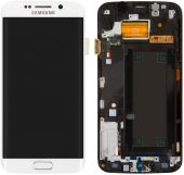 Дисплей (экран) для телефона Samsung Galaxy S6 EDGE G925F + Touchscreen with frame Original White