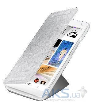 Чехол Melkco Book leather case for HTC One Dual Sim white [O2M7DSLCFB2WELC]