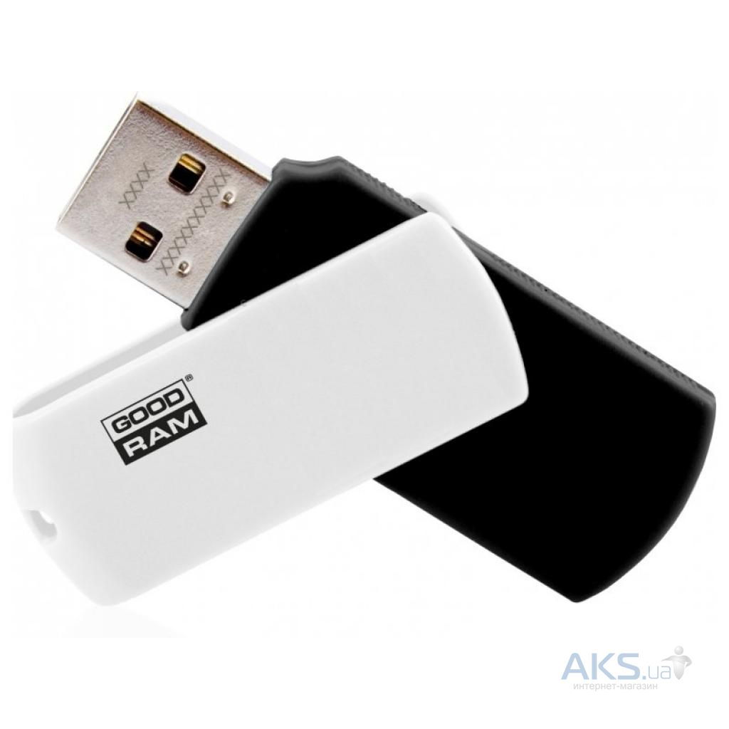 Флешка GooDRam 16GB UCO2 (Colour Mix) Black/White USB 2.0 (UCO2-0160KWR11)