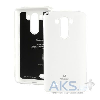 Чехол Mercury Jelly Color Series LG Optimus G3 D855, D850, D851 White