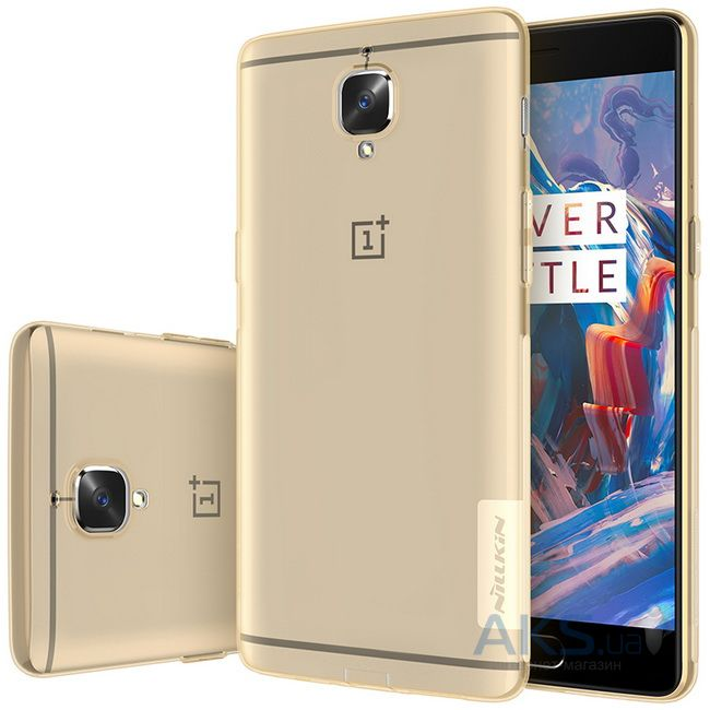Чехол Nillkin Nature Series OnePlus 3 Transparent Gold