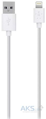 Кабель USB Belkin Lightning to USB ChargeSync Cable for iPhone 1.2m White (F8J023bt04-WHT)