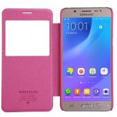 Вид 4 - Чехол Nillkin Sparkle Leather Series Samsung J510 Galaxy J5 2016 Pink