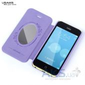 Вид 5 - Чехол Usams Book case Batterfly for iPhone 5C Violet