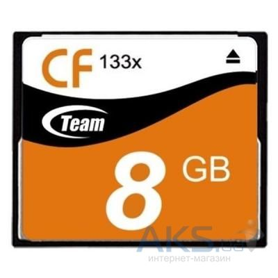 Карта памяти Team 8Gb Compact Flash 133x (TCF8G13301)