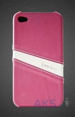 Чехол iMOBO leather back cover for iPhone 4/4S pink/white (HCIP-15PW)