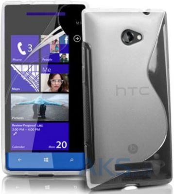 Чехол Original TPU Duotone HTC 8S Rio a620e Transparent