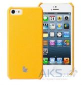 Чехол JisonCase Fashion Wallet Case for iPhone 5/5S Yellow/Orange (JS-IP5-01H80)