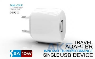 Зарядное устройство Parmp Usb Home Charger+ Lightning Cable for Iphone 5 White