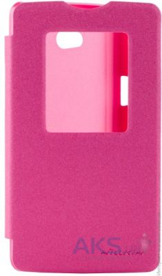 Чехол Nillkin Sparkle Leather Series LG Optimus L80 D380 Dual Red