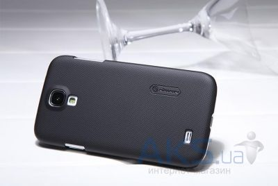 Вид 3 - Чехол Nillkin Super Frosted Shield Samsung i9500 Galaxy S4 Black