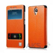Чехол Xoomz Litchi Pattern Leather для Xiaomi Mi4 Orange
