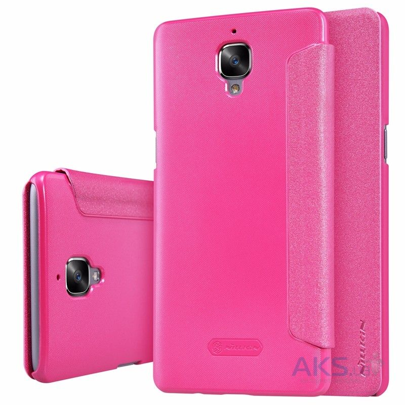Чехол Nillkin Sparkle Leather Series OnePlus 3, 3T Pink