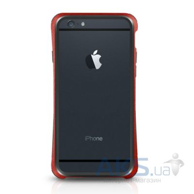 Чехол Macally Flexible protective frame for iPhone 6/6S Red (IRONP6M-R)
